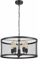ELK Home 1217-1010 Grange Modern Oil Rubbed Bronze Drum Drop Ceiling Light Fixture