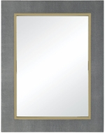 ELK Home 1218-1003 Coral Metallic Grey Faux Leather With Gold Plated Stainless Steel Mirror