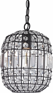 ELK Home 122-013 Maldon Dark Bronze With Clear Crystal Mini Pendant Light