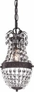 ELK Home 122-016 Camborne Dark Bronze With Clear Crystal Mini Entryway Light Fixture