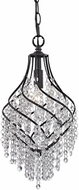 ELK Home 122-018 Mowbray Dark Bronze With Clear Crystal Mini Pendant Lamp