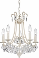 ELK Home 122-021 Mini Chandelier Antique Cream With Clear Crystal Mini Chandelier Lamp
