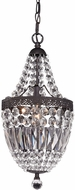 Sterling 122-026 Morley Dark Bronze With Clear Crystal Foyer Light Fixture