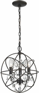 Sterling 124-003 Restoration Bronze & Clear Pendant Light Fixture