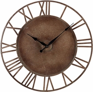 ELK Home 128-1002 Roman Numeral Parity Bronze Metal Roman Numeral Outdoor Wall Clock