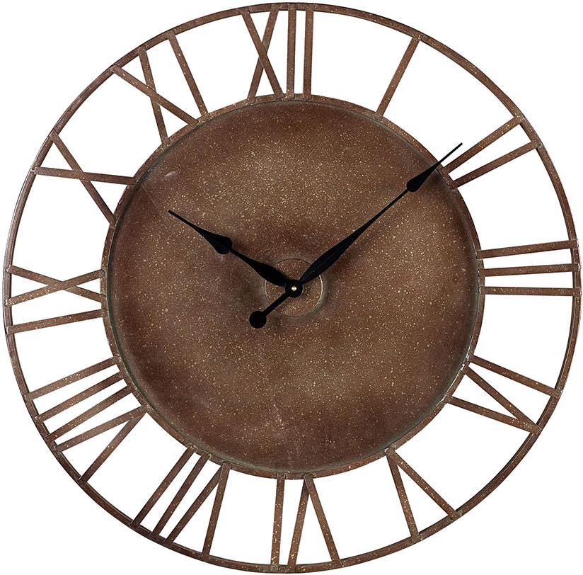 Sterling 128 1002 Roman Numeral Parity Bronze Metal Outdoor Wall Clock Loading Zoom
