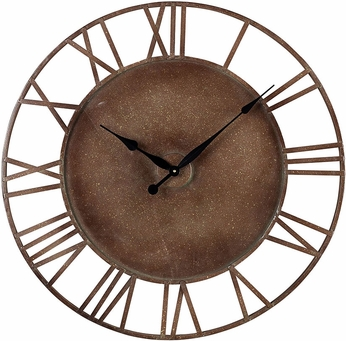 Sterling 128-1002 Roman Numeral Parity Bronze Metal Roman Numeral Outdoor Wall Clock
