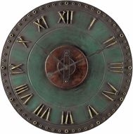 Sterling 128-1004 Roman Numeral Marilia Verde With Gold Metal Roman Numeral Outdoor Wall Clock