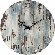 ELK Home 128-1008 Roman Numeral Belos Dark Blue Wooden Roman Numeral Outdoor Wall Clock