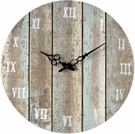 ELK Home 128-1009 Roman Numeral Belos Light Blue Wooden Roman Numeral Outdoor Wall Clock