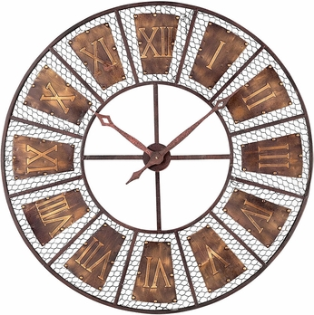 Sterling 128-1011 Curnished Copper Outdoor Wall Clock