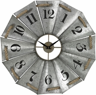 ELK Home 129-1091 Priory Road Galvanized Metal & Natural Rope Aluminum And Rope Wall Clock