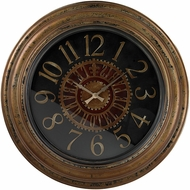 ELK Home 130-003 Alspire Black & Maroon & Brunished Gold Large Clock With Distressed Hand painted Frame