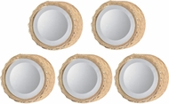 Sterling 138-185-S5 Honeycomb Gold Wall Mirror - Set of 5