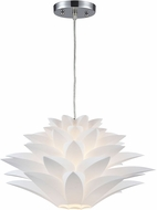 Sterling 143-002 Inshes Contemporary White Hanging Pendant Light