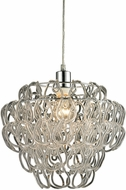 Sterling 144-006 Torvean Modern Clear & Chrome Pendant Hanging Light