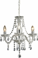 ELK Home 144-015 Modern Clear & Chrome Mini Chandelier Light