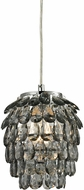 Sterling 144-021 Kinloss Modern Grey Smoke Mini Ceiling Pendant Light