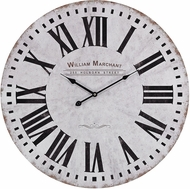ELK Home 171-005 White With Black Aged White Wall Clock