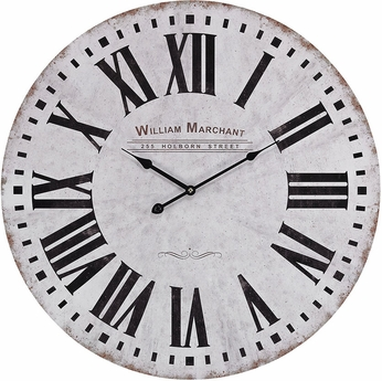 Sterling 171-005 White With Black Aged White Wall Clock