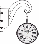Sterling 171-006 Bronze Double Sided Iron Scroll Wall Clock