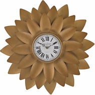 Sterling 171-018 Gold Gold Petal Wall Clock
