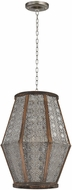 Sterling 172-004 Nickel With Wood Foyer Light Fixture