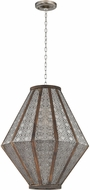 Sterling 172-006 Nickel With Wood Entryway Light Fixture