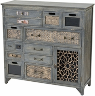 Sterling 3116-027 Topanga Vintage Antique Grey Medium Cabinet