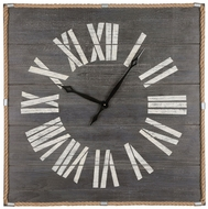 Sterling 3129-1147 Rum Cay Retro Washed Grey Woodtone Wall Clock