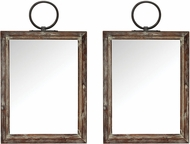 Sterling 3138-427-S2 Ticonderoga Salvaged Grey Wood Wall Mirror
