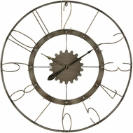 ELK Home 3138-429 Calibre Retro Grey Iron And Antique Wall Clock