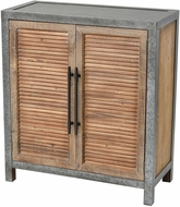 Sterling 3138-451 Badlands Drifted Oak / Aged Iron Drifted Oak with Aged Iron 2-Door Wood and Metal Chest