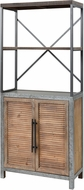 Sterling 3138-452 Badlands Drifted Oak / Aged Iron Drifted Oak with Aged Iron 2-Door Wood and Metal Bookcase