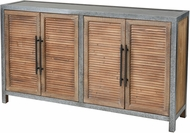 Sterling 3138-453 Badlands Drifted Oak / Aged Iron Drifted Oak with Aged Iron 2-Door Wood and Metal Cabinet