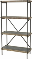 Sterling 3138-458 Honcho Black / Wood Tone Shelf