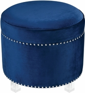 Sterling 3169-077 National Velvet Navy / Clear Navy Ottoman