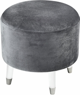 Sterling 3169-079 The Velvet Darkness Grey / Clear Darkness Ottoman