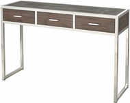 Sterling 3183-022 Beefcake Walnut / Stainless Steel Console Table
