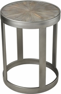 Sterling 3183-024 Gravitas Modern Salvaged Grey Wood / Pewter Salvaged Grey with Pewter Metal and Fir Wood Accent Table
