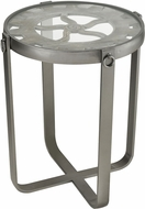Sterling 3183-025 Sync Contemporary Salvaged Grey Wood / Pewter Salvaged Grey with Pewter Metal and Fir Wood Accent Table