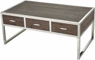 Sterling 3183-027 Beefcake Walnut / Stainless Steel Coffee Table