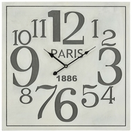 ELK Home 3205-006 Quai Voltaire Vintage Aged White, Grey Wall Clock