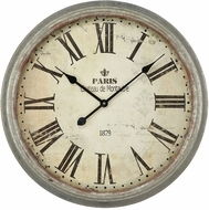 Sterling 3205-008 Ch�teau de Montautre Retro Salvaged Metal Wall Clock