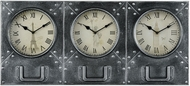 Sterling 3214-1001 Age Of Progress Retro Dark Pewter Wall Clock