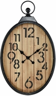 Sterling 3214-1003 Near Vintage Bronze With Wood Tone Wall Clock