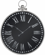 Sterling 3214-1011 King Street Gate Retro Silver / Black Wall Clock