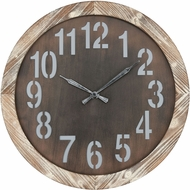 Sterling 3214-1012 Alamogordo Vintage Burnt Oak Wall Clock