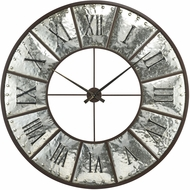 Sterling 3214-1013 Queen and Country Retro Silver / Bronze Wall Clock