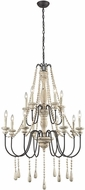 ELK Home 3215-006 Sommi�res Traditional Antique French Cream With Dark Bronze Chandelier Light